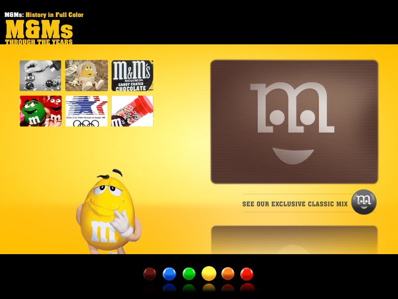 m ms marketing history The m&m / mars company has used the legend of the green m&m in marketing  the history of dyslexia m cartoon  character to be used in the m&ms.